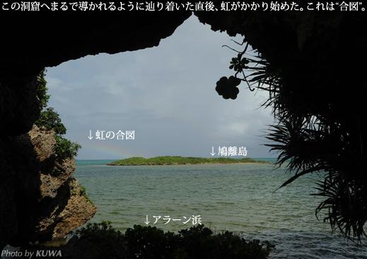 アラーン浜と鳩離島